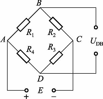 对臂测量电桥是将两枚工作片R1